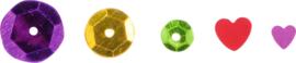 Mini confetti, cirkels en hartjes