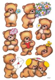Etiket Herma beren met bloemen