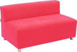 Flexi brede bank, zithoogte 35 cm, rood