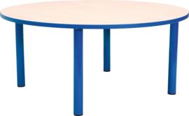 Ronde Quint-tafel 90 cm met blauwe rand 40-58cm