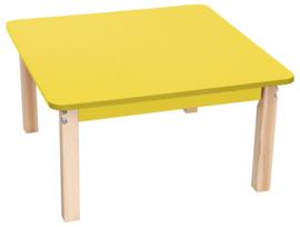 Vierkant kleurrijk geel tafelblad