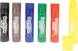 Dikke crayons in 6 kleuren
