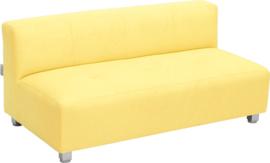 Flexi brede bank, zithoogte 25 cm, geel