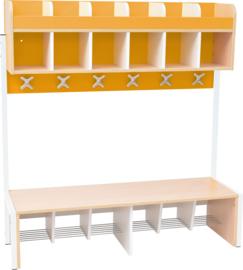 School garderobe Butterfly 6, 20 cm - oranje