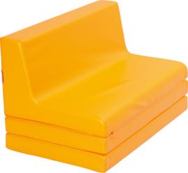 Vouwbare bank afm. 48 x 80 x 49 cm - Oranje