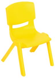 Dumi stoel  geel, maat 1-4