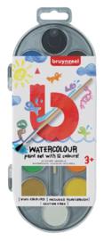 Waterverf Bruynzeel Kids 12 kleuren - Assorti