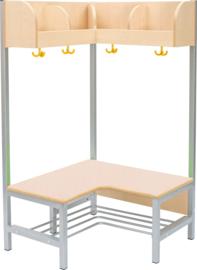 Flexi hoekgarderobe met frame 4, hoogte: 35 cm, esdoorn