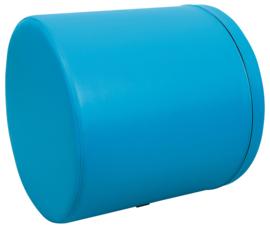 Foam cilinder breed 60x60cm - Blauw