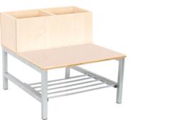 Flexi combibank 2, zithoogte 26 cm., esdoorn
