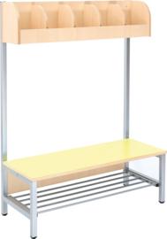 Flexi garderobe 5, zithoogte 26 cm - geel