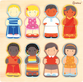 Puzzel Kinderen van de wereld