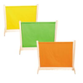 Afscheidingsscherm laag - geel/groen/oranje