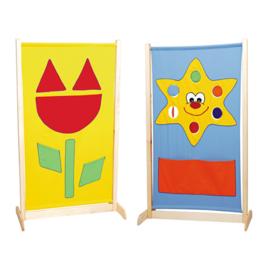 Afscheidingsscherm hoog - tulp/zon