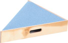Driehoek platform, hoogte: 10 cm, licht blauw
