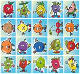 Stickers Funny fruits - serie 40