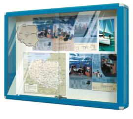 Informatie vitrines - blauw