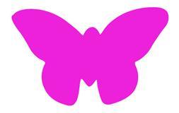 Plakfiguur 400 stuks assorti - Vlinder