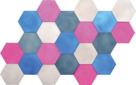 Geluiddempende zeshoeken  set 4