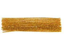 Chenilledraad metallic goud 6 mm. - 50 cm.