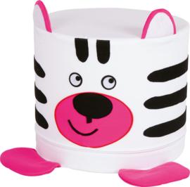 Foam dieren poef 30x35cm - Zebra