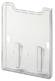 Wandelement Exacompta folderhouder A4 1-vak helder transparant