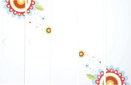Deuren met print voor Mariposa 5 garderobe