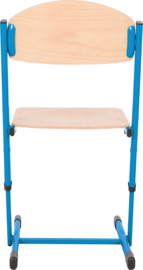 Len stoel met instelbare hoogte - maat 3-6 blauw