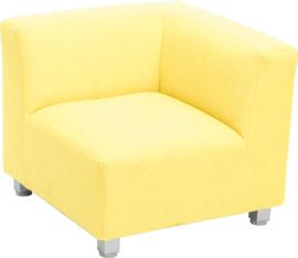 Flexi hoekbank, zithoogte 25 cm,  geel