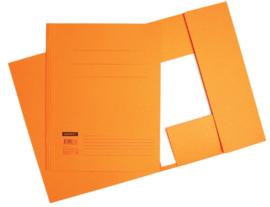 50x Aktemappen 3 kleppen A4 320gr oranje