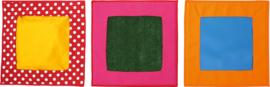 Textiel vierkanten - extra set