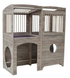 Duobox spijlen kijkgat -  Grey Craft Oak