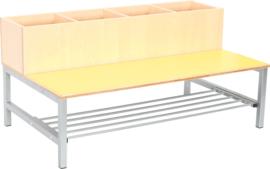 Flexi combibank 4, zithoogte 35 cm., geel