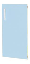 Deur voor smalle kast Flexi en kast M met scheidingswand rechts - licht blauw