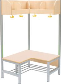 Flexi hoekgarderobe met frame 4, hoogte: 26 cm, esdoorn