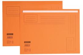 50x Vouwmap Quantore A4 ongelijke zijde 230gr oranje