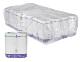 128rollen Toiletpapier PrimeSource Duo 2laags 200vel