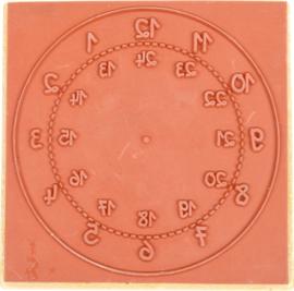Houten stempel - klok