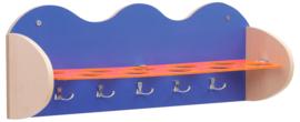Plank voor bekers en accessoires - blauw