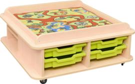 Vierkante tafel voor speelmat - laag