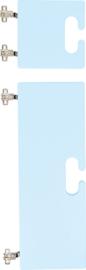 Kleine en grote deur voor kameleon garderobe - lichtblauw