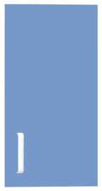 Deur voor smalle niveau verhoger Flexi (099190) rechts - blauw