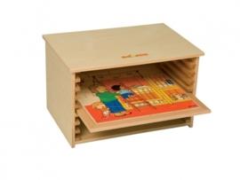 Puzzelkast voor puzzels 34 x 34 cm.