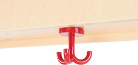 Garderobe hanger Flexi / Quadro, rood