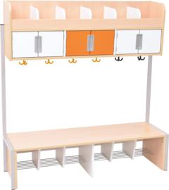 Quadro - garderobe 6 laag, esdoorn