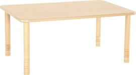 Rechthoekige Flexi tafel 120x80cm beuken 58-76cm hoogte verstelbaar