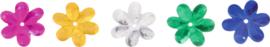 Glanzende confetti, madeliefjes