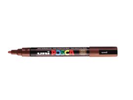 Verfstift Posca fijne punt 0.9 - 1.3 mm. bruin