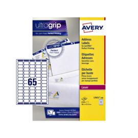 Etiket Avery L7651-100 38.1x21.2mm wit 6500stuks