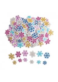 Foam glitter sneeuwvlokken assorti 300 stuks